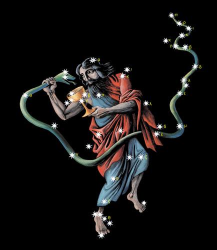 Змееносец, Змей и чаша